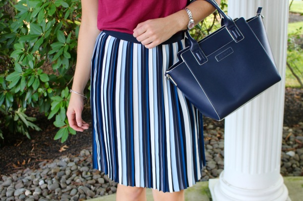 Collegiate Striped Skirt on The Sol Compass
