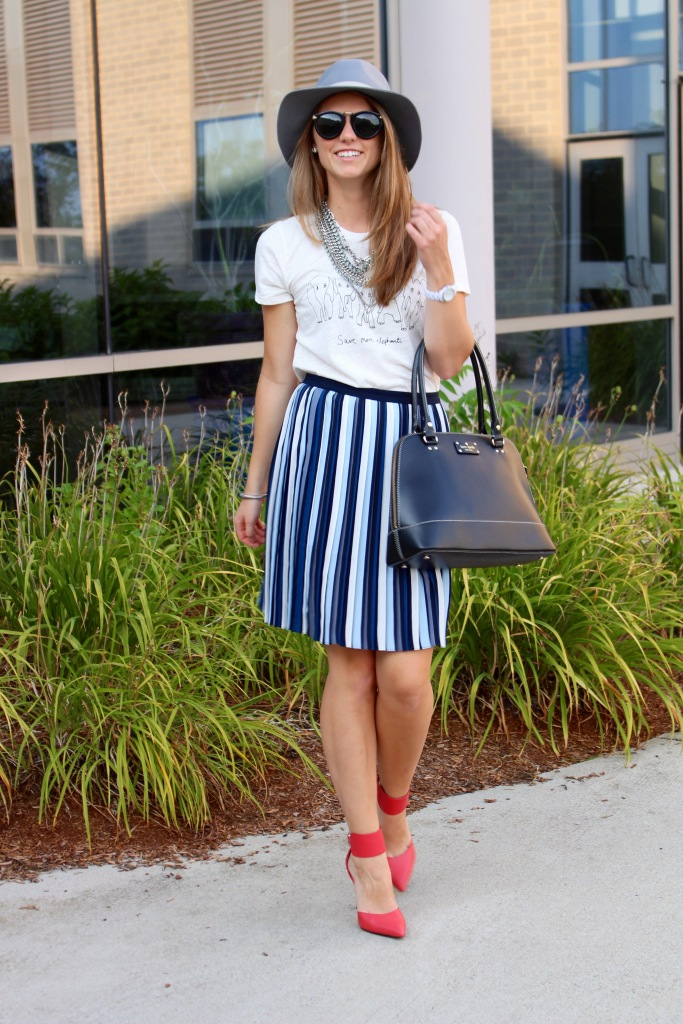 Collegiate Chic inspired fall outfit