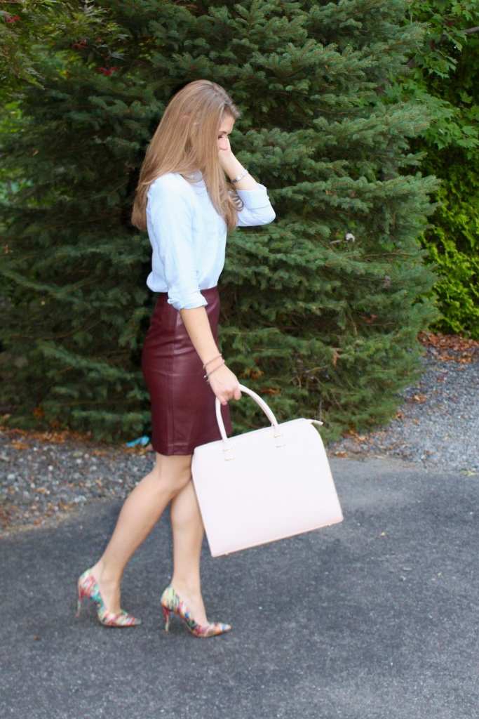 faux leather skirt for fall