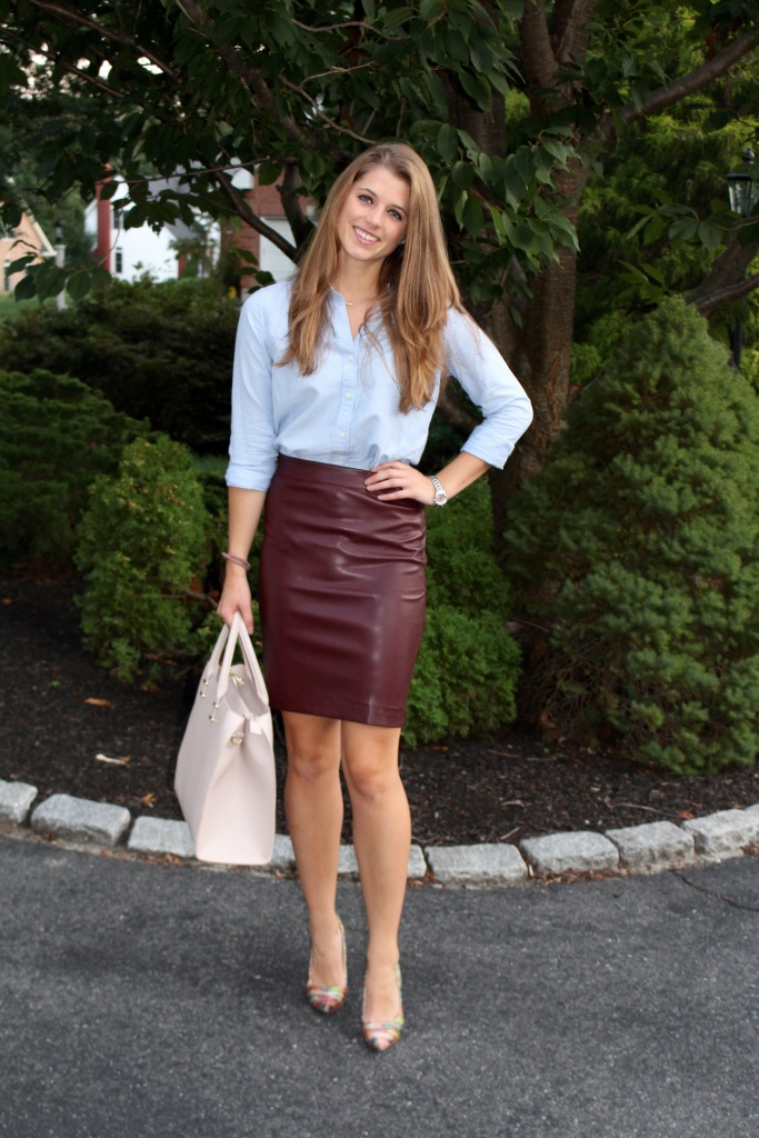 leather skirt outfit ideas
