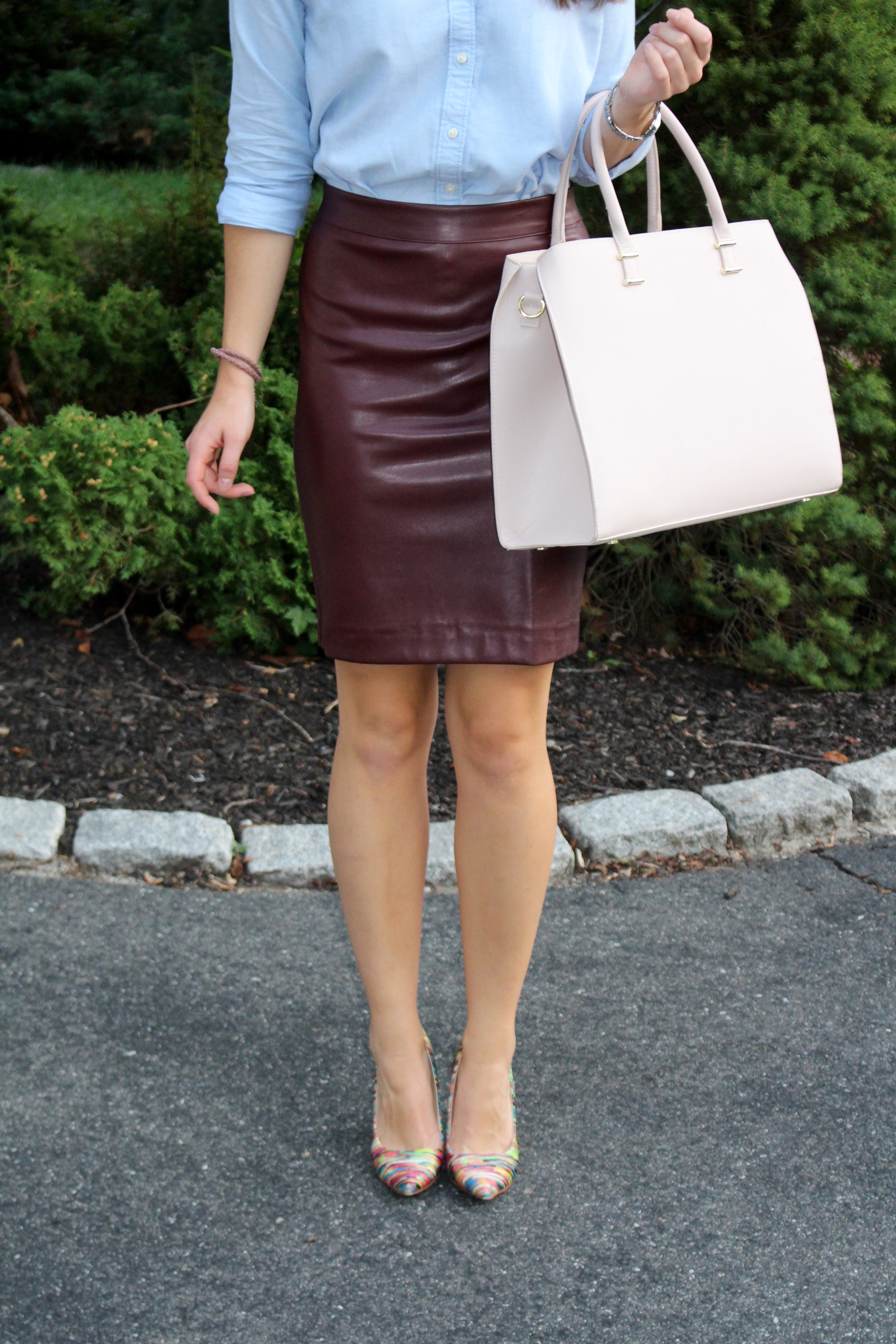 leather pencil skirt | The Sol Compass
