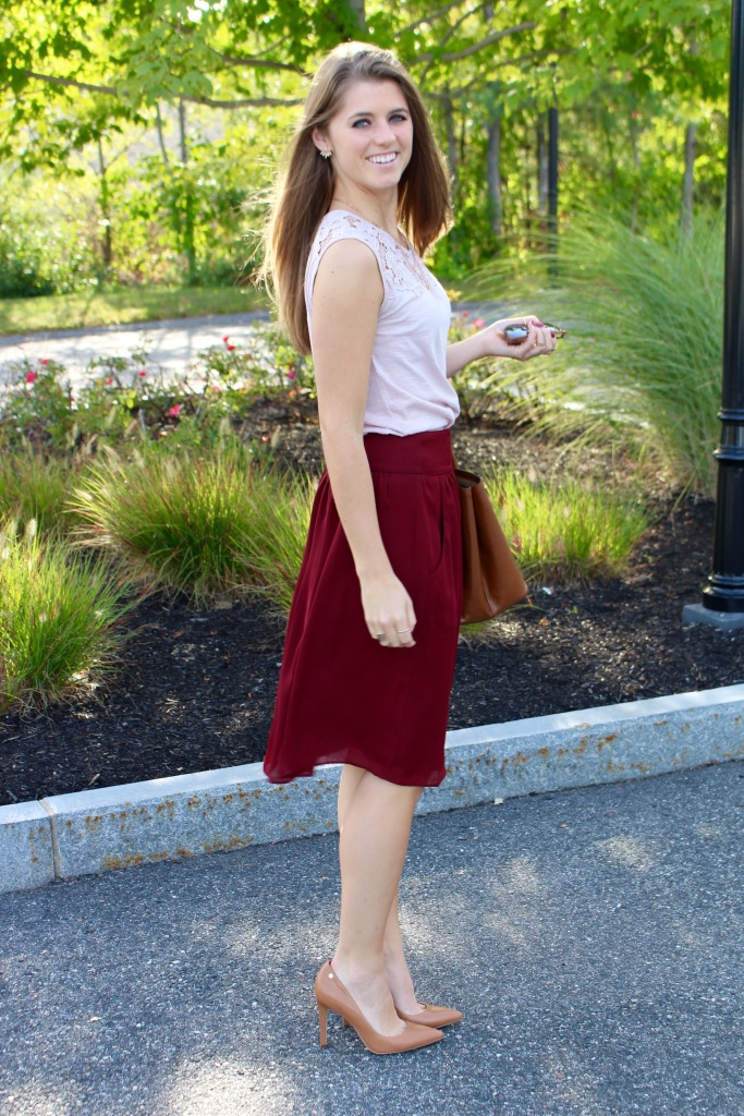 Fall Full Skirt Outfit