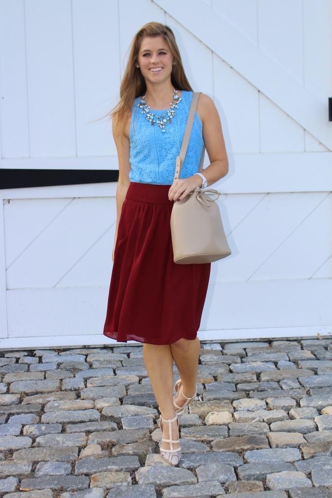 Burgundy Skirt | The Sol Compass