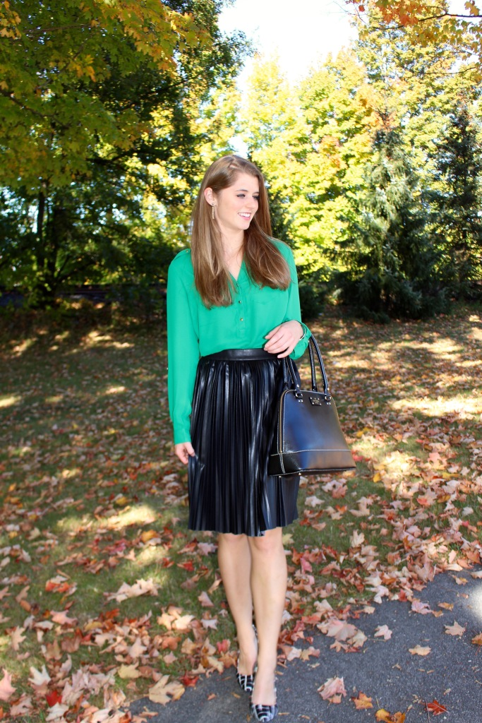 Office Appropriate Faux Leather Skirt