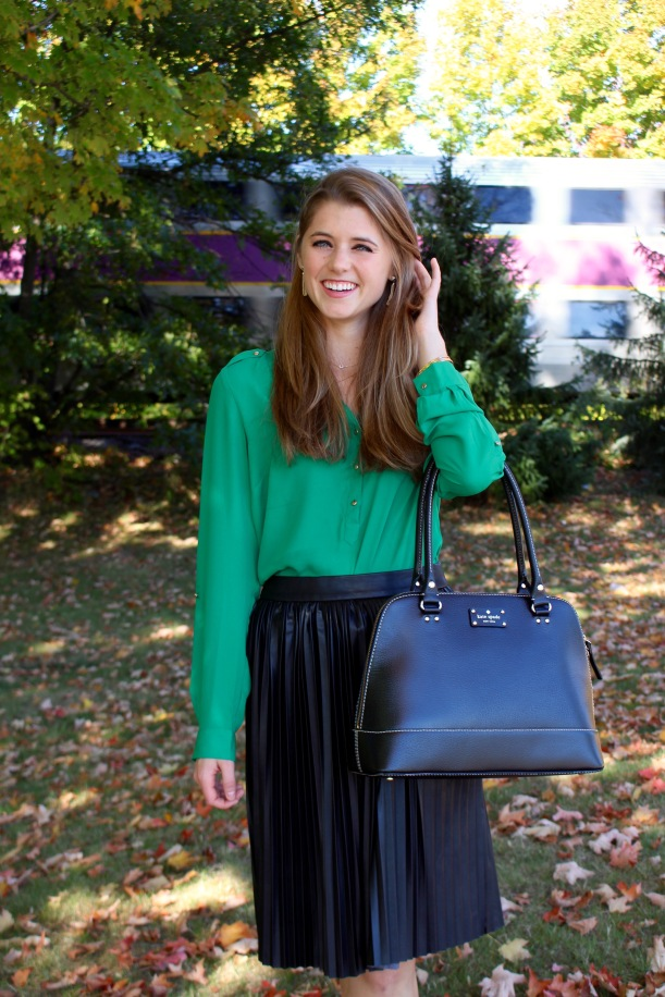 Emerald and Black work outfit