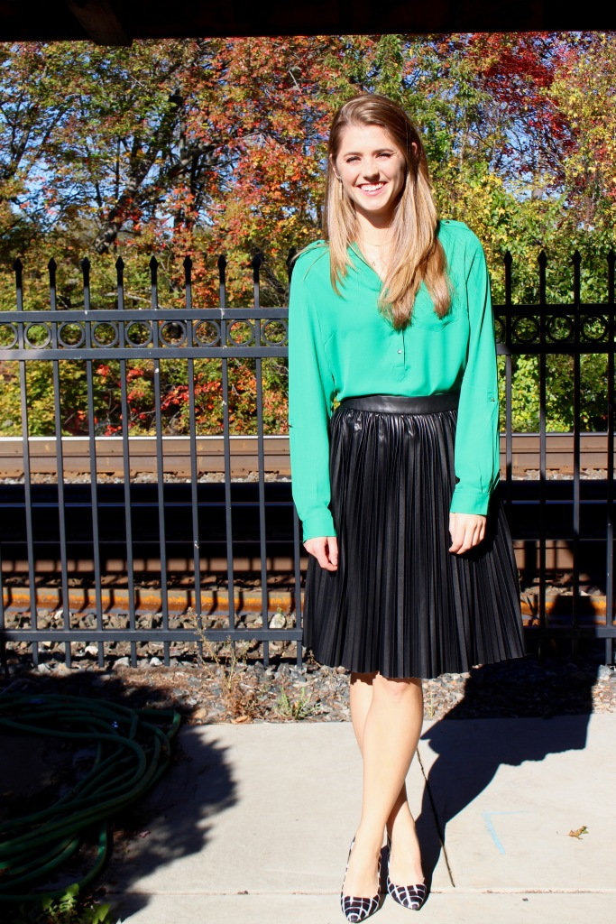 Emerald and Black Fall Outfit