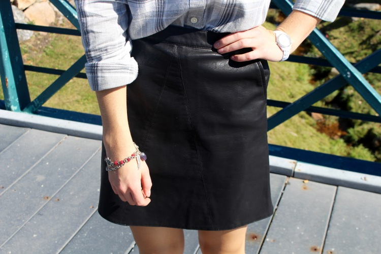 Black Zara Faux Leather Mini Skirt