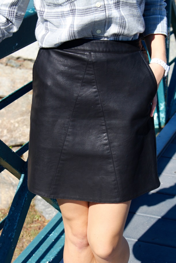 Black Faux Leather Mini Skirt - click to shop