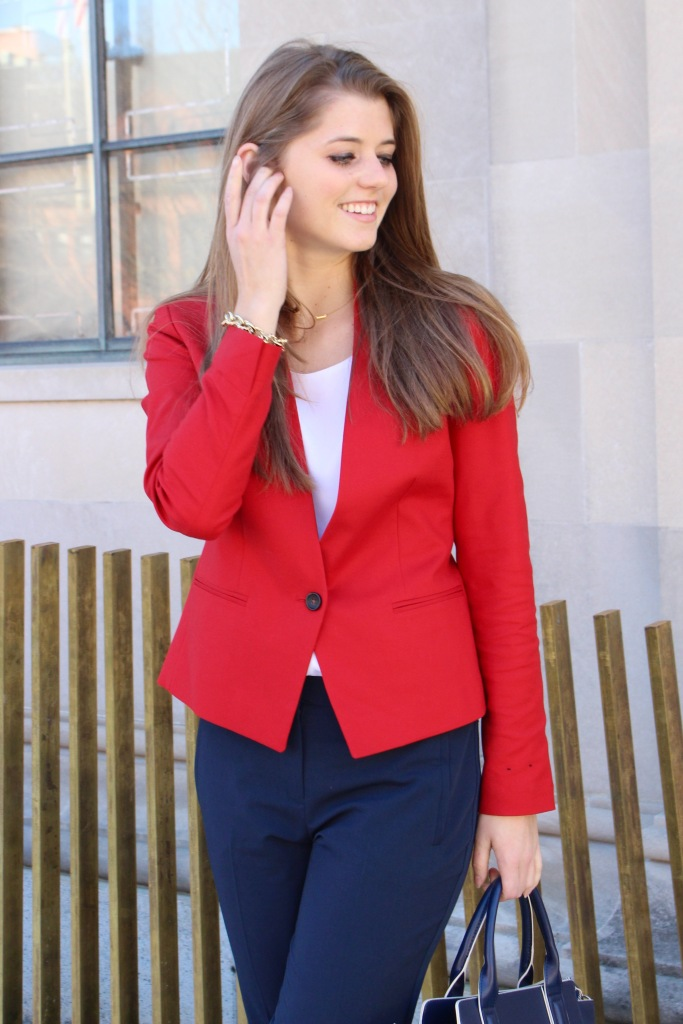 Red Blazer Outfit | The Sol Compass