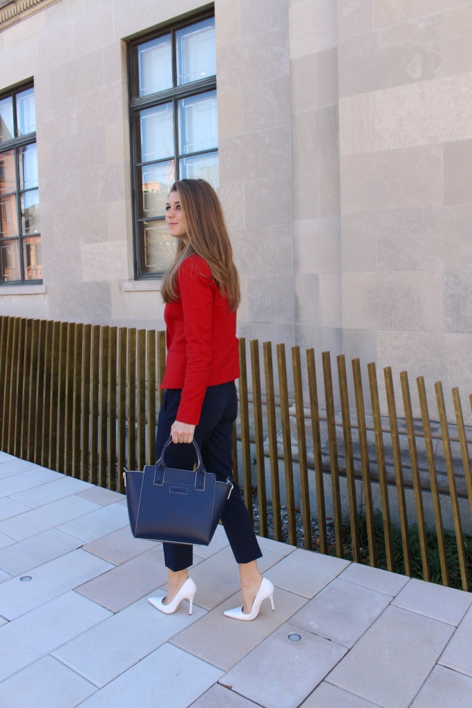 Red and Navy Professional Outfit