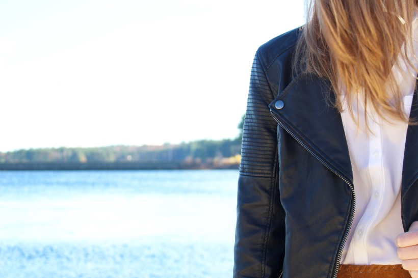 Black Faux Leather Topshop Jacket