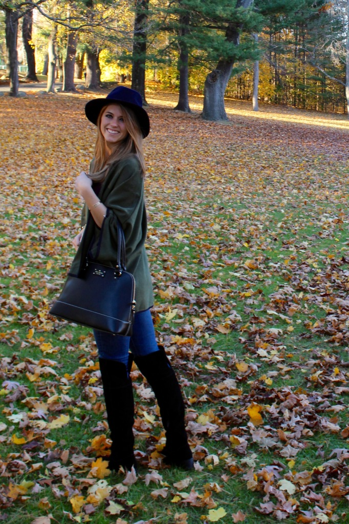 olive green poncho cape for fall