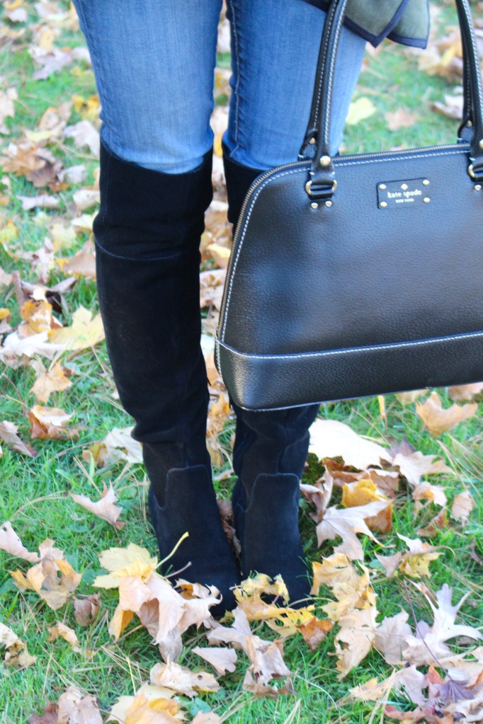 Black Suede Over The Knee Boots for Fall